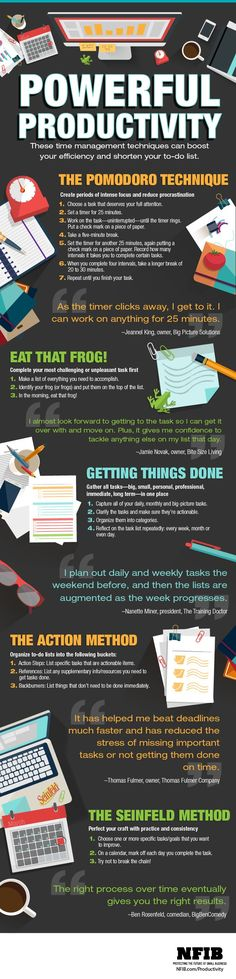 Infographic: 5 Ways to Be More Productive | NFIB