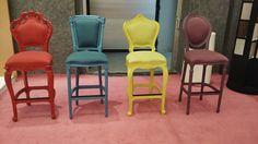 Muebles coloridos, ideales para eventos sofisticados.