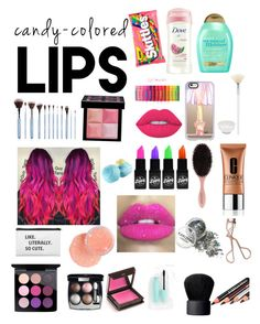 """Lip smackers"" by alahna-f on Polyvore featuring beauty, Clinique, Charlotte Tilbury, Dove, NARS Cosmetics, Jouer, Givenchy, MAC Cosmetics, Chanel and Glitter Pink"