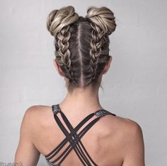 creating a new workout hairstyle! #braidcreations                              …
