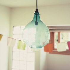 recycled glass jar pendant lamp