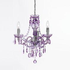 Purple chandelier.