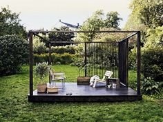 Contemporary Pergola Architecture - Farmhouse Pergola Patio - Pergola Attached To House Steel - Pergola Tuin Klimop Patio Pergola, Pergola Swing, Deck With Pergola, Diy Patio, Black Pergola, Steel Pergola, Patio Canopy, Wooden Pergola, Outdoor Rooms