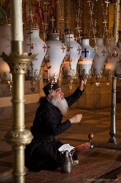 Greek Orthodox priest in Jerusalem, Israel
