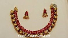 antique-ruby-jhumka-necklace-mithula-jewellery.jpg (720×405)