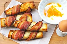 Bacon Toasts are great for dipping into soup, soft-boiled eggs, and as a snack by itself. Try making it!
