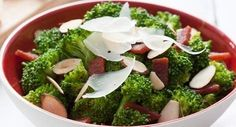 Broccoli with Bacon and Toasted Almonds