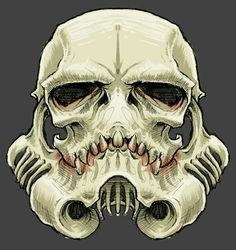 """""""The SkullTrooper"""", Inspired by Star Wars: Stormtrooper on Behance. This would be awesome as a motorcycle helmet. Star Wars Tattoo, Tattoo Stars, Fan Tattoo, Sick Tattoo, Fan Art, Star Wars Art, Star Trek, Skull Art, Crane"""