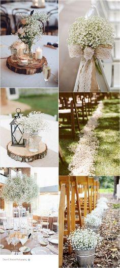 baby's breath themed wedding decoration ideas #weddingflowers #weddingbouquets #weddingdecor #weddingideas #baby'sbreath