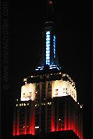 The spire of the Empire State Building at night NYC Empire State Of Mind, Empire State Building, World Traveler, New York City, Nyc, Night, Places, New York, Lugares