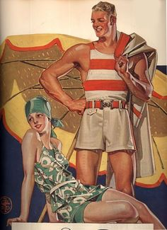 Summertime, 1927 by J. Leyendecker Painting Print on Wrapped Canvas Frederic Remington, Rolf Armstrong, Norman Rockwell, American Illustration, Illustration Art, Vintage Ads, Vintage Posters, Vintage Artwork, Canvas Art Prints