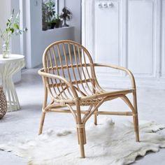Stuhl aus Rattan Mina natur - - Tikamoon