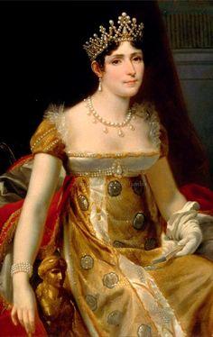 Josephine, Imperatriz consorte do Francês, em um parure maravilhosa pérola.  1800,