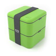 Monbento Square Bento Box - Green Lunch Box Container French Design To Go Box