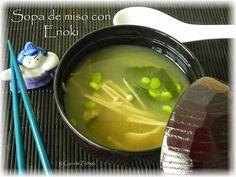 CocinandoSetas: Sopa de miso con Enoki