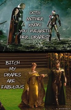 Sassy Frigga answers Iron Man (♥ her!) Meme by me ^_^