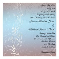 New Blue Wedding Invitation