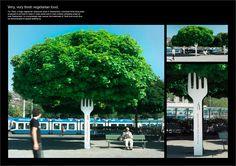 Mídia Alternativa - Tibits Vegetarian Restaurant  Creative Ambient Advertising