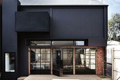 Architecture, Charming Modern Black Design Architecture Ideas Of Black House With Combined With Glass Window Facade And Brick Tile Wall Showing Bright Color Interior In The Dark Exterior: Black Home Design with Its Advantages and Color Combination Design Exterior, Black Exterior, Home Design Decor, House Design, Home Decor, Architecture Résidentielle, Recycled Brick, Melbourne House, Visit Melbourne