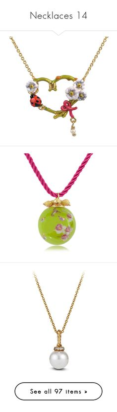 """""""Necklaces 14"""" by thesassystewart on Polyvore featuring jewelry, necklaces, jewelry necklaces, multicolor, tri color necklace, flower jewellery, multicolor necklace, daisy jewellery, daisy chain necklace and green"""