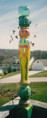 Liz Haseley's wonderful garden art!