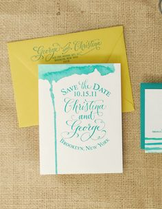 DIY Tutorial: Hand Watercolored Save the Dates + Thank You Cards
