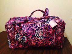 Vera Bradley KATALINA PINK Large Duffel Bag Duffle NWT #VeraBradley