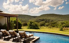 Kwandwe in the center of South Africa's malaria-free area near Grahamstown. The reserve is a member of the exclusive Relais & Chateaux portfolio. Big Bathtub, Colonial Furniture, Private Games, Best Novels, Game Reserve, Open Plan, Lodges, The Locals, Wilderness
