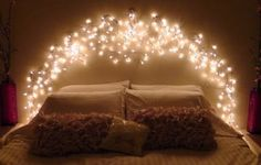 Beautiful Fairy Lights For Bedroom Headboard ~ http://lanewstalk.com/bedroom-lighting-ideas-for-better-sleep/
