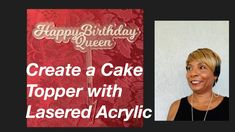 Cake Topper #19 - YouTube Create A Cake, How To Make Cake, Diy Jewelry Videos, Acrylic Cake Topper, Cake Toppers, The Creator, Happy Birthday, Youtube, Happy Brithday