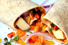 Spicy Peanut Butter Potato Burritos from Amie Valpone of thehealthyapple.com