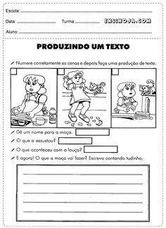 Atividades dePortuguês 1° ano do fundamental para imprimir com ensino de qualidade e facilidade no Portuguese Language, Homeschool, Writing, How To Plan, Education, Reading, Memes, Marines, Creative Activities For Kids