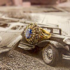 Victorian Gold Diamond Sapphire Ring
