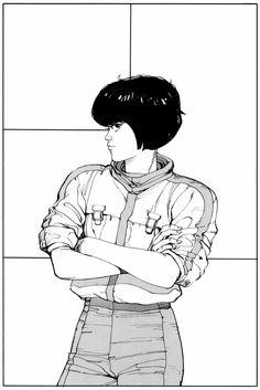 Katsuhiro Otomo ~ Splash page from Akira Comic Book Artists, Comic Artist, Comic Books Art, Comics Illustration, Illustrations, Manga Anime, Anime Art, Blue Exorcist, Akira Anime