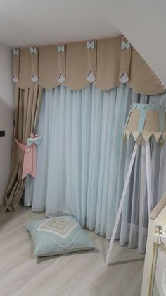 Curtain Styles For the Living Room Area - Life ideas Curtain Designs For Bedroom, Window Curtain Designs, Curtain Styles, Baby Room Curtains, Cute Curtains, Tassel Curtains, Diy Zimmer, Trendy Furniture, Baby Decor
