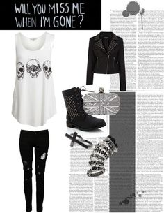 """""""When I'm Gone"""" by emily-sarahx ❤ liked on Polyvore"""