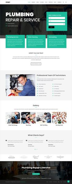 Epoint is clean and modern design multipurpose responsive #WordPress theme for creative #handyman #repair services website with 35+ niche homepage layouts download now..