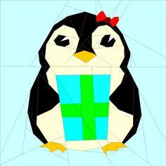 (7) Name: 'Quilting : Penguin #6