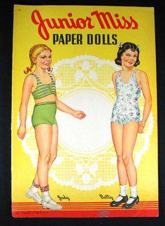 Vintage 1942 Junior Miss Paper Dolls New & Uncut Saalfield | eBay
