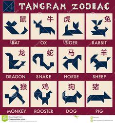 tangram zodiac - Cerca con Google