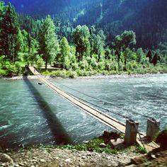 bridge on neelum river