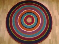 Large crochet round rug 63'' 162 cm/Crochet by AnuszkaDesign