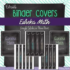 EDITABLE • Binder Covers (EUREKA Math)