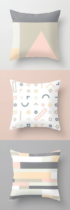 Inspiration / Minimal and simple geometric elements. Perfect for Scandinavian home. Clean and modern pattern. Eyebrow Makeup Tips Scandinavian Pattern, Scandinavian Interior Design, Scandinavian Home, Scandinavian Pillows, Palettes Color, Colour Schemes, Pillow Inspiration, Design Inspiration, Ideas Hogar