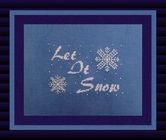 Cross Stitch Design Let It Snow Chart, Bead Pack & Specialty Fiber Pack by TurquoiseGraphics, $14.00