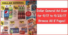 Ready to work on Sunday's (9/17) Dollar General Shopping List? Click the Picture below to BROWSE all the Pages of the Dollar General Ad Scan for 9/17 to 9/23/17 ► http://www.thecouponingcouple.com/dollar-general-weekly-ad-9-17-17/  Visit us at http://www.thecouponingcouple.com for more great posts!