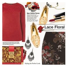"""Lace Floral Contest"" by anna-anica ❤ liked on Polyvore featuring MCM, Chanel, Dorothy Perkins, Free Press, Ganni and Dolce&Gabbana"