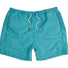 Aqua Blue swim shorts that come in 8 colourways, in this Larry Bird length.