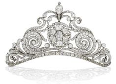 1810 diamond tiara