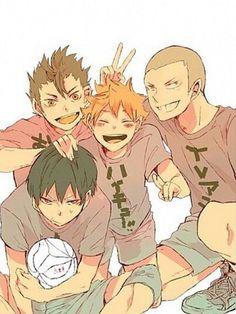 Kageyama, Hinata, Tanaka, Nishinoya